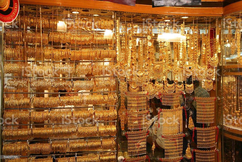 Gold souq, Dubai stock photo