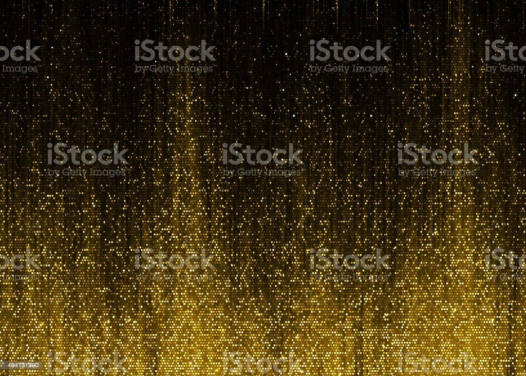 Gold sparkle glitter fire sound wave royalty-free stock photo
