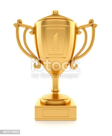 istock Gold sports champion cup 482379963