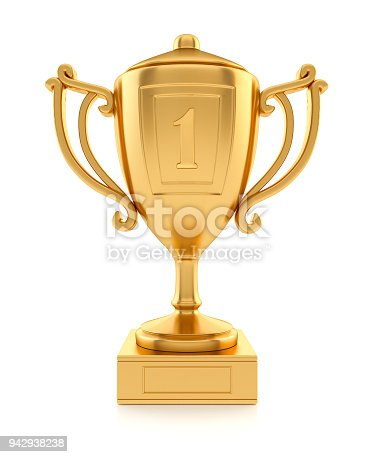istock Gold sports champion cup 942938238