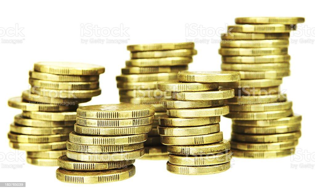 Gold Stacks royalty-free stock photo