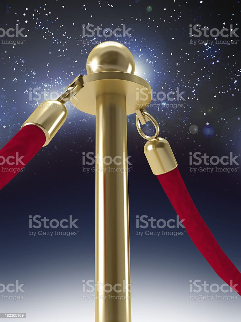 Gold stanchion post detail royalty-free stock photo