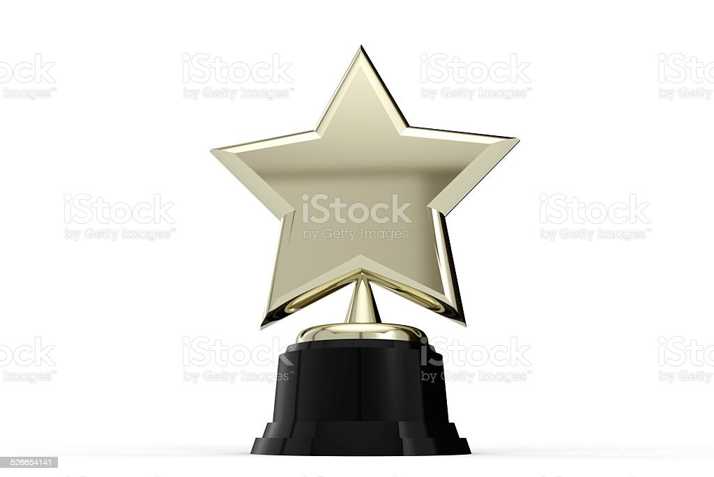 Gold star award stock photo