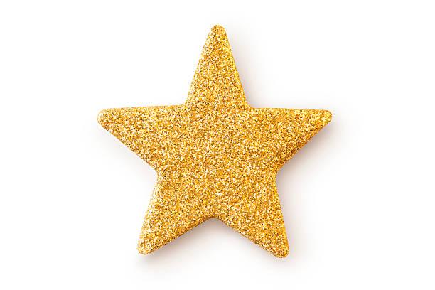 Stella d'oro. Decorazione natalizia. - foto stock