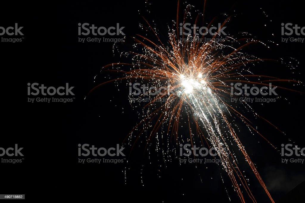 gold star fireworks stock photo
