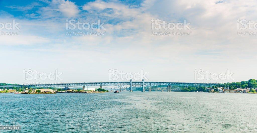 Gold Star Memorial Bridge stock photo
