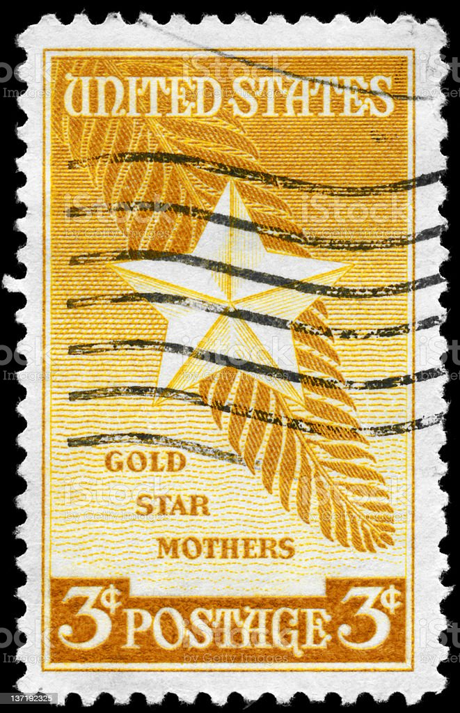 Gold Star Mothers royalty-free stock photo