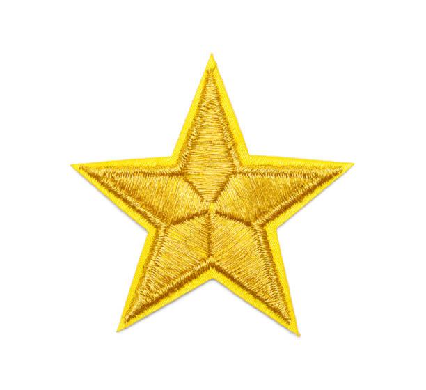 ゴールドスターパッチ - 刺繍 ストックフォトと画像