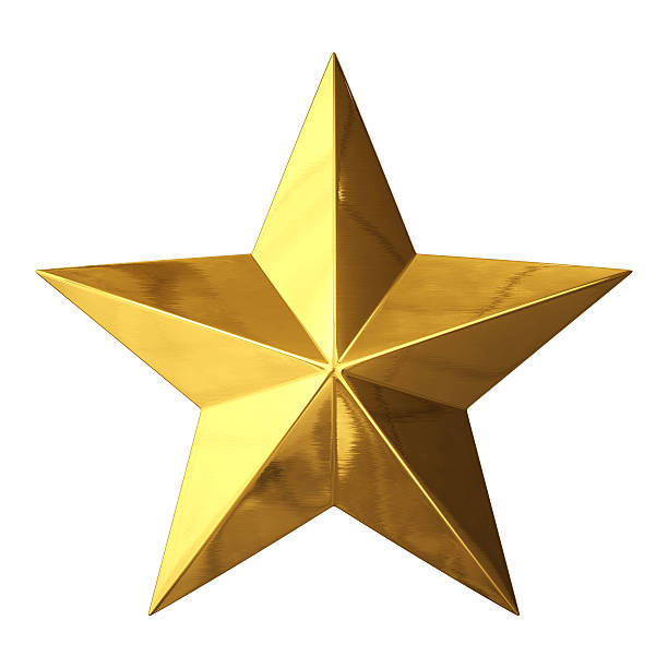gold star - star shape stock photos and pictures