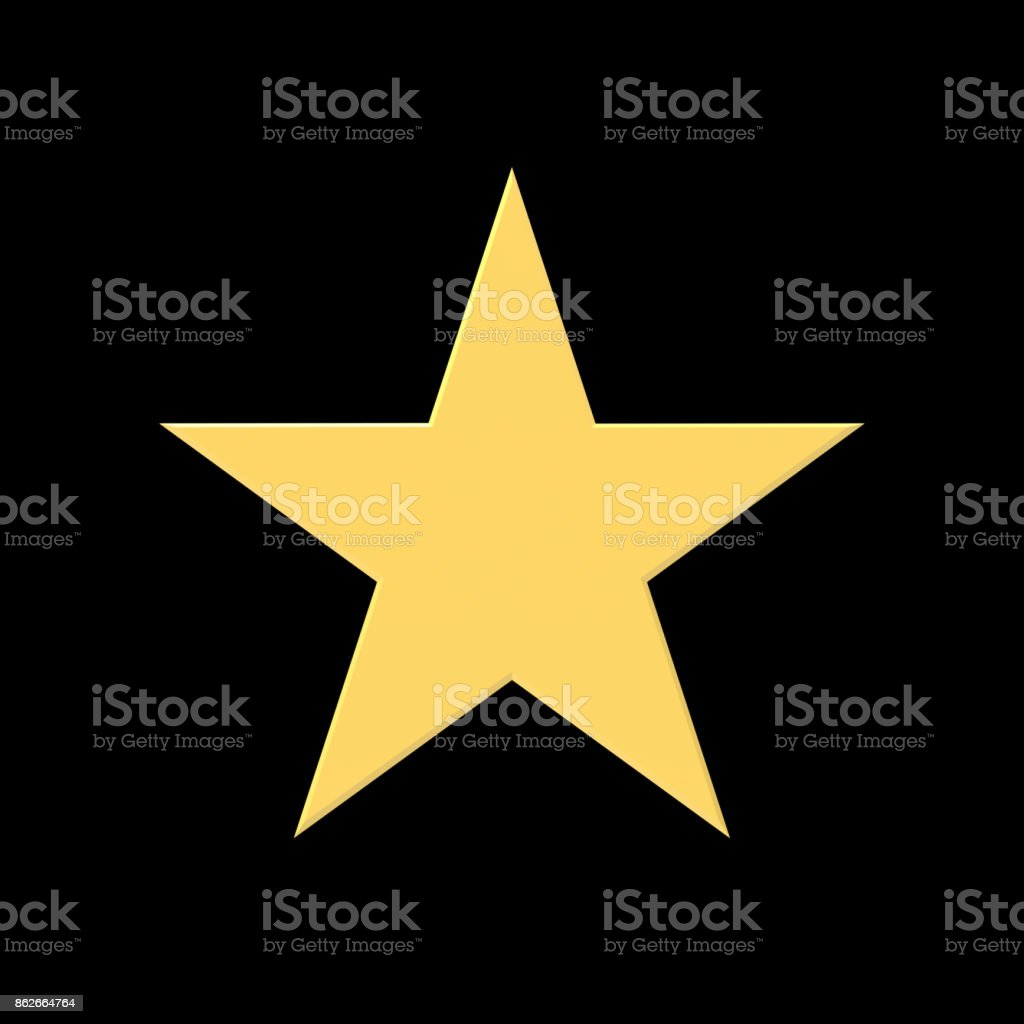 Gold Star stock photo