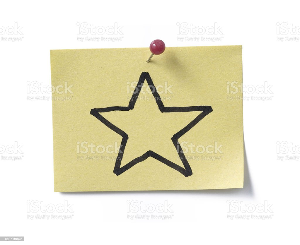 gold star! post-it. royalty-free stock photo