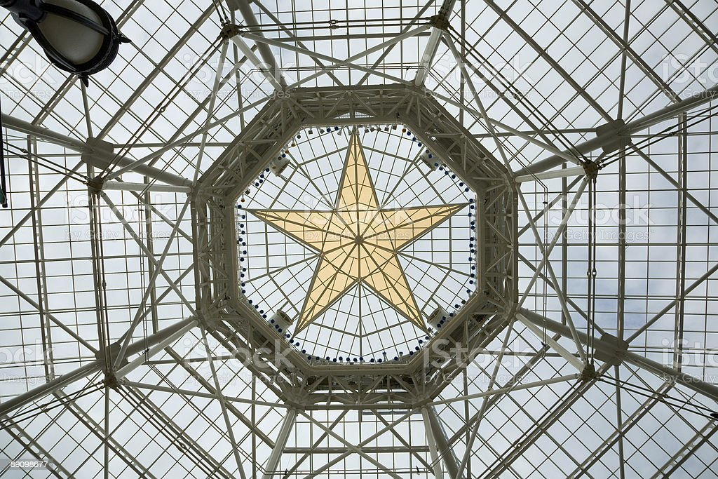 Gold Star Roof Gaylord Texan Resort & Convention Center royalty-free stock photo