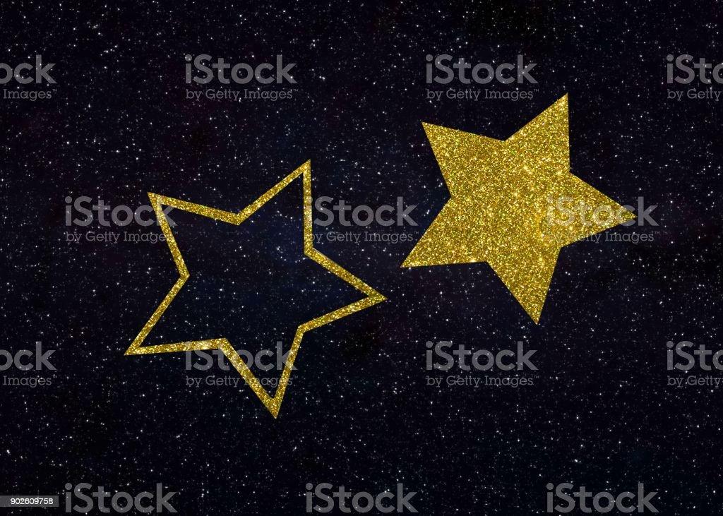 gold stars card stock photo