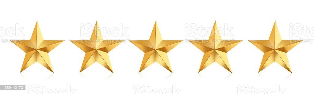 Estrelas douradas  - foto de acervo