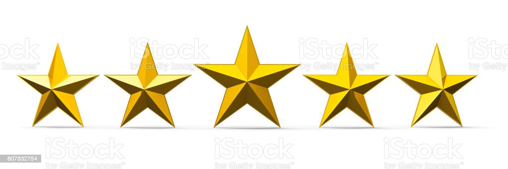 Gold Stars stock photo