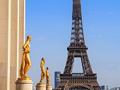 In September 2020, tourists were visiting the Esplanade du Trocadero in Paris in France