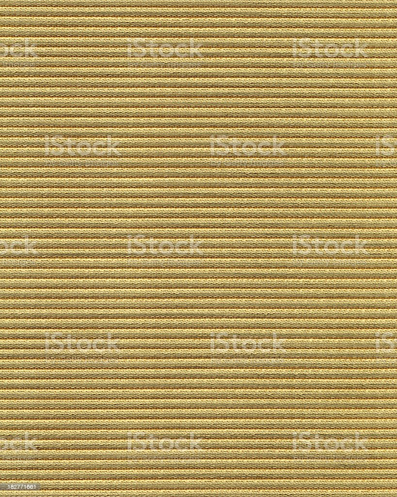 Gold Striped Fabric royalty-free stock photo
