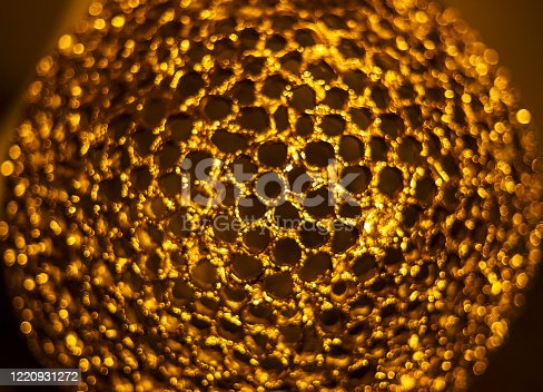 886746424 istock photo Gold structure abstract background, close up macro 1220931272