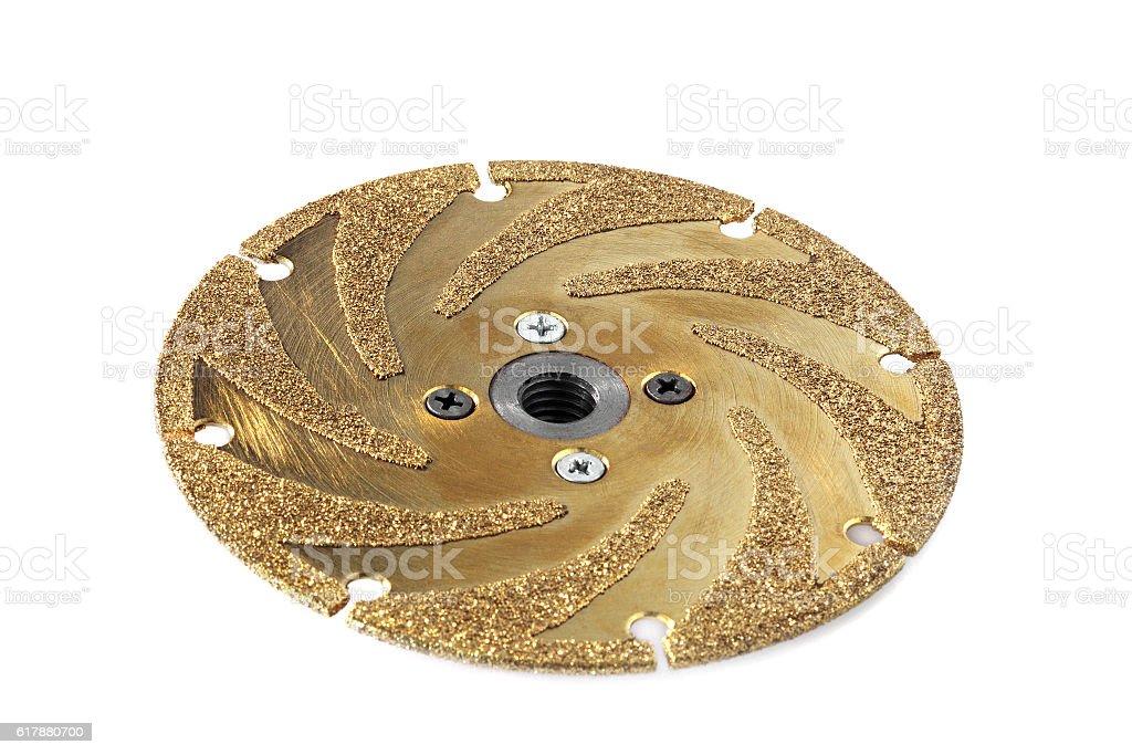 gold studded diamond blade stock photo