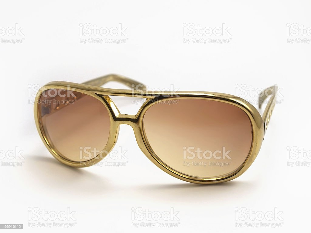 Gold Sunglasses royalty-free stock photo