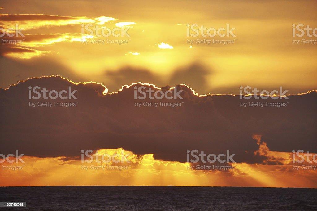 Gold Sunrise royalty-free stock photo