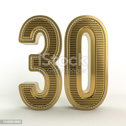 istock Gold symbol of the discount in figures. 3D 1048953882