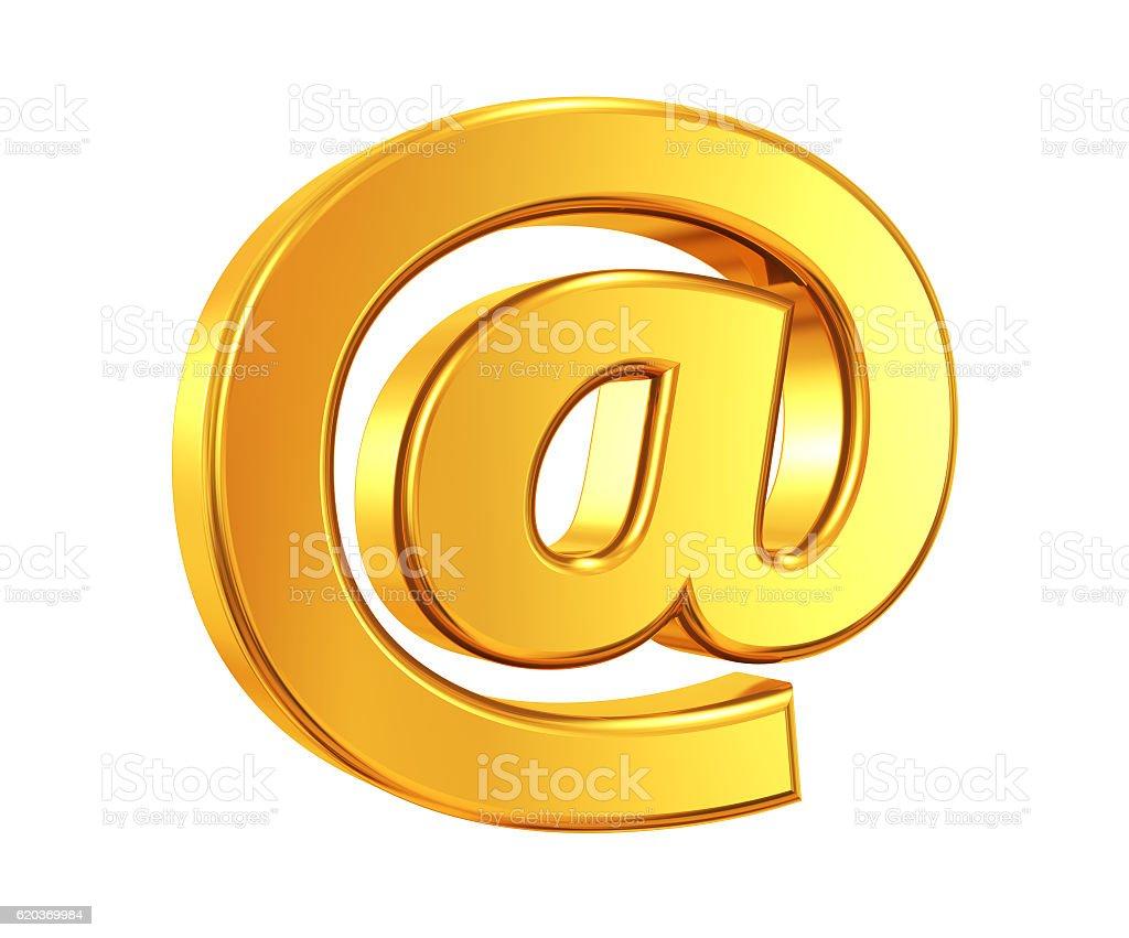 Gold @ symbol zbiór zdjęć royalty-free
