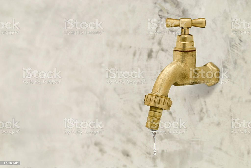 Gold tap stock photo