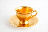 Gold Tea / Coffee Cup