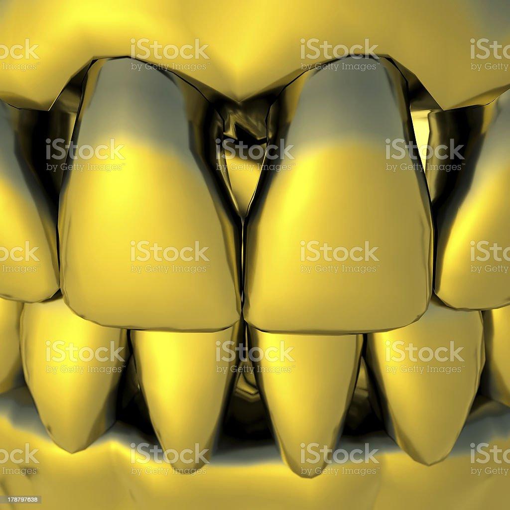 Gold teeth stock photo