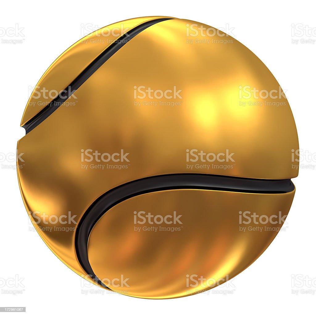 gold tennis ball royalty-free stock photo