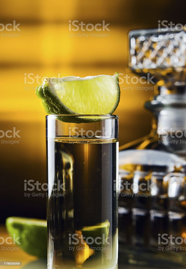 gold tequila royalty-free stock photo