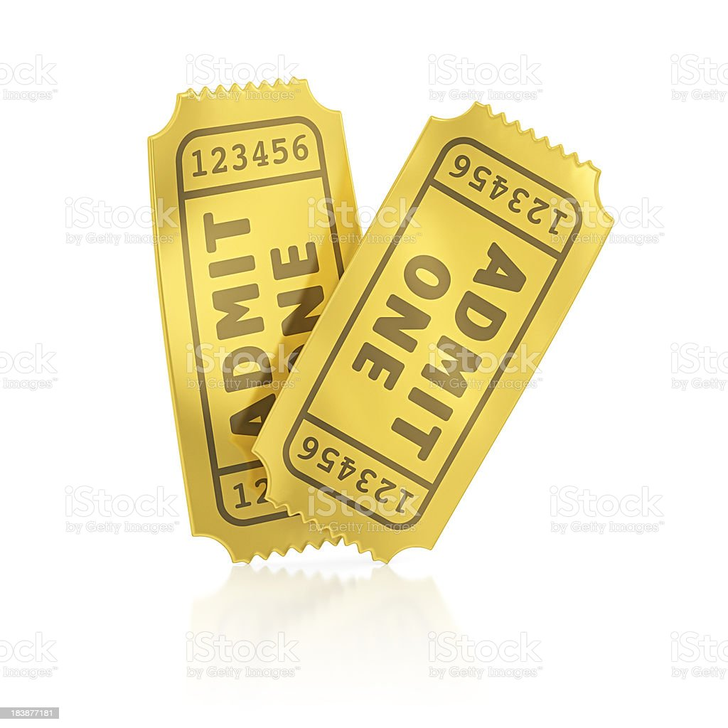 gold tickets royalty-free stock photo