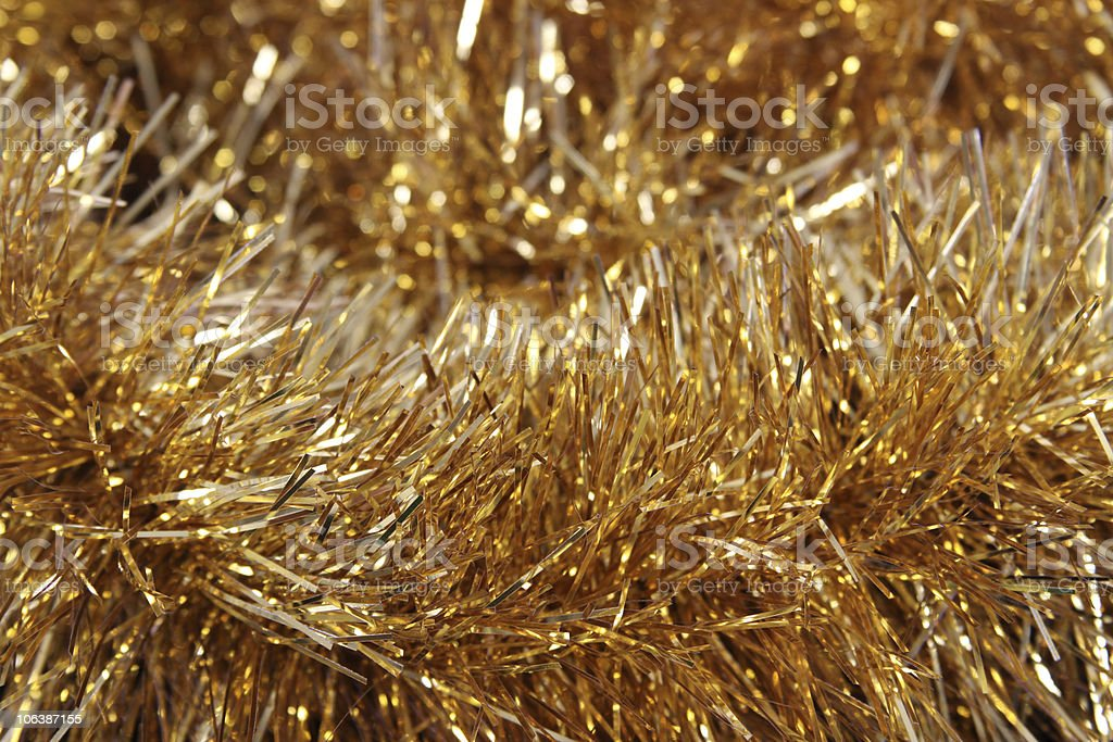 Gold Tinsel stock photo