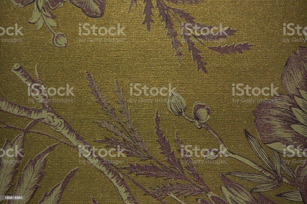 gold tone leaf textile royalty-free stock photo