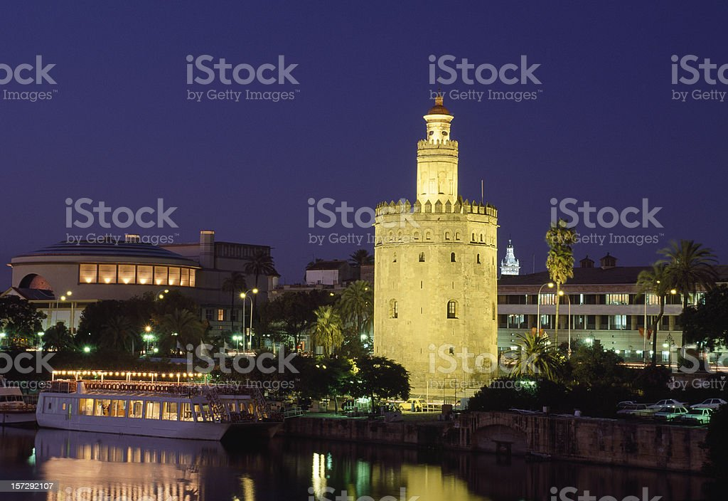 Gold Tower in Seville Spain royalty-free stock photo