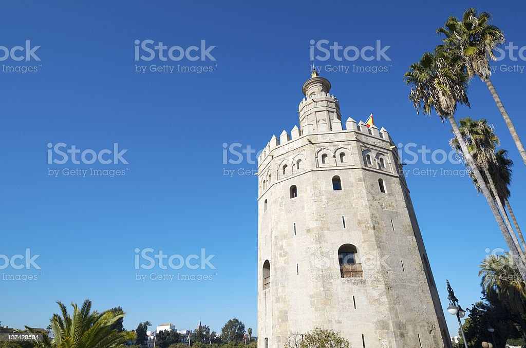 Gold Tower royalty-free stock photo