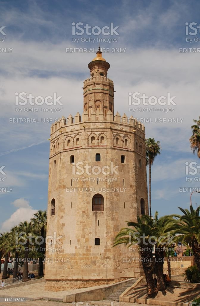 Gold Tower, Seville stock photo