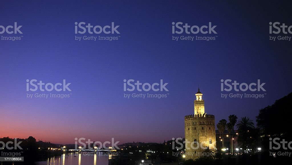 torre del oro, sevilla royalty-free stock photo