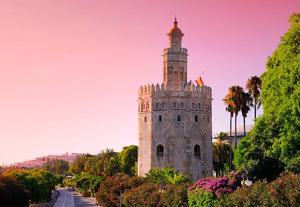 Gold Tower, Seville. Gold Tower at sunrise in Seville, Spain. seville stock pictures, royalty-free photos & images