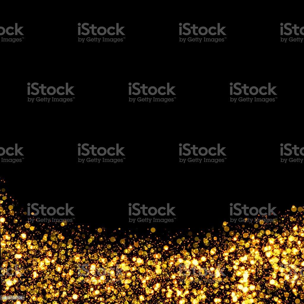 gold trail glitter background stock photo