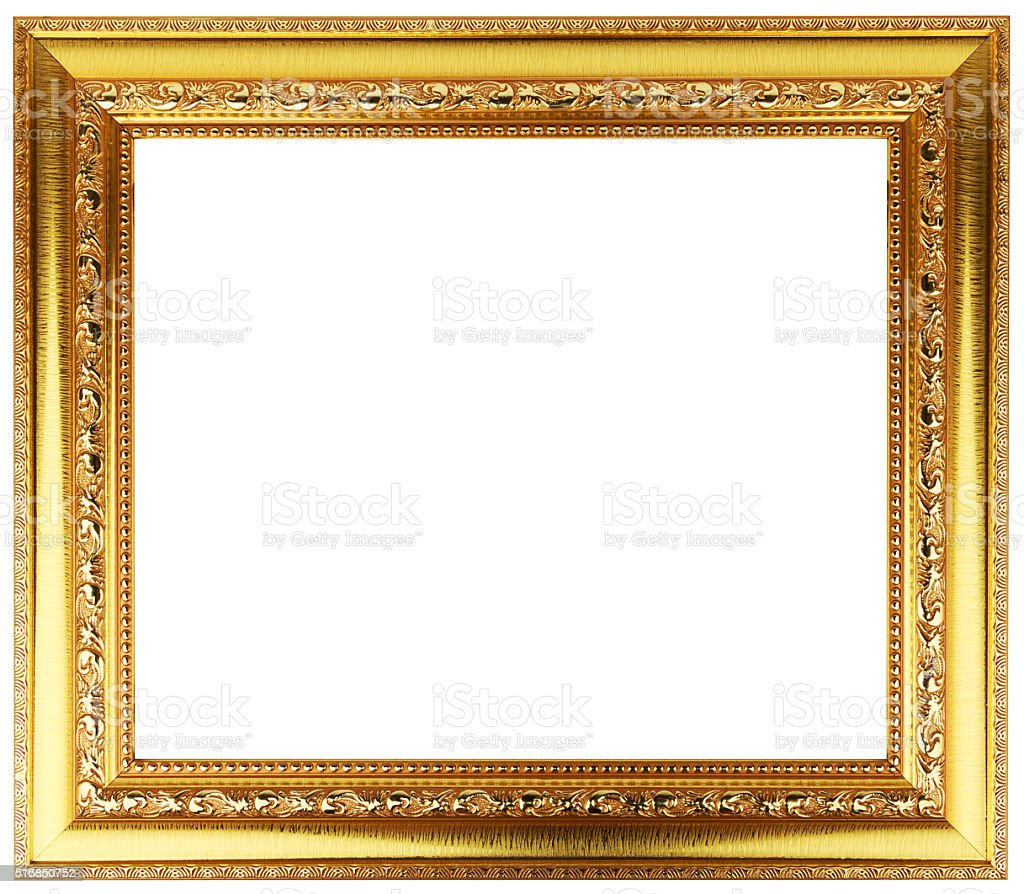 Gold Transparent Frame With Diamonds Stock Photo & More Pictures of ...