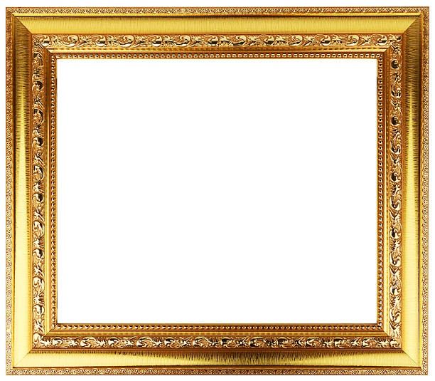 Royalty Free Golden Picture Frames Decorated With Gemstones Pictures ...
