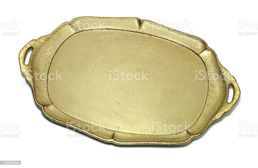 Gold Tray royalty-free stock photo