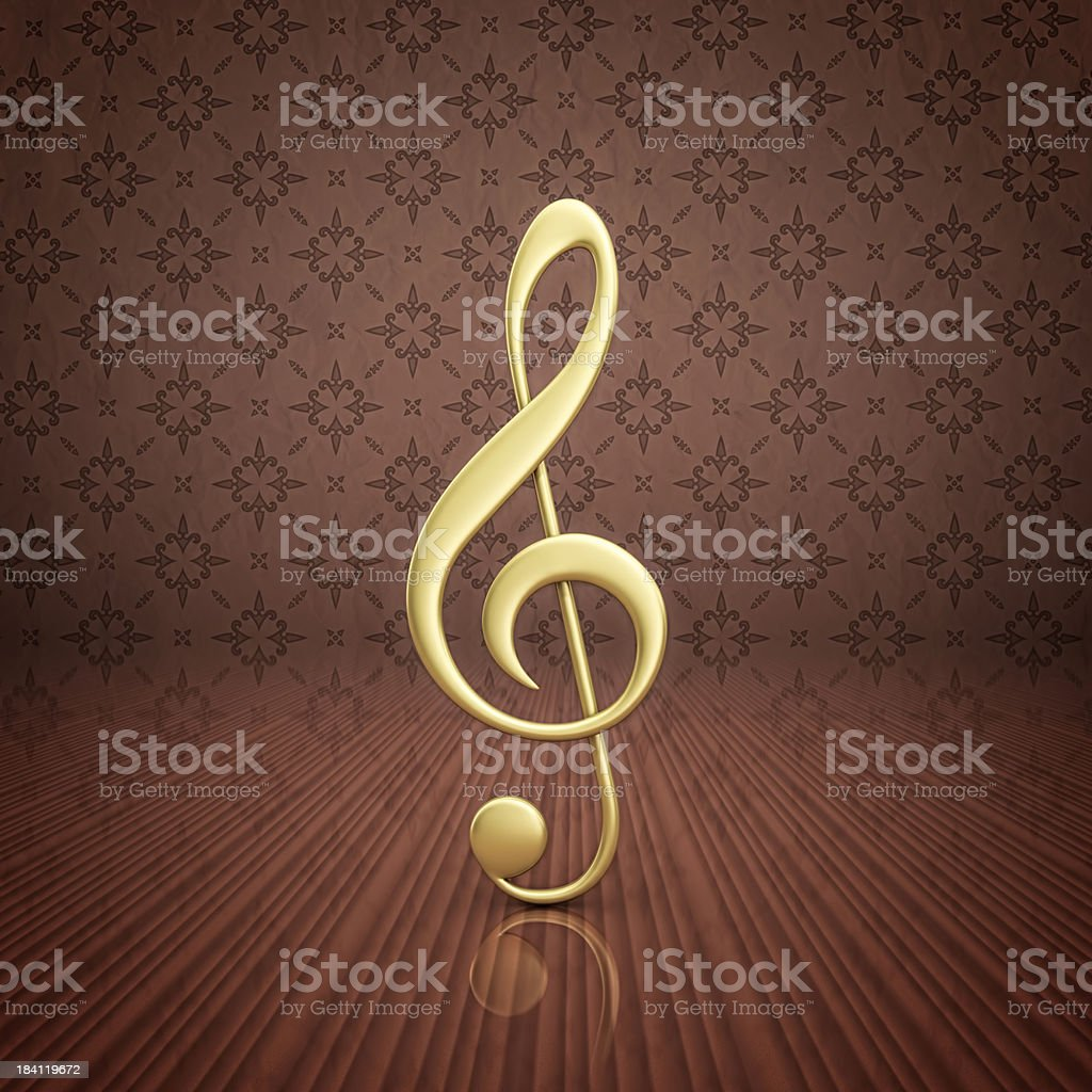 gold treble clef royalty-free stock photo