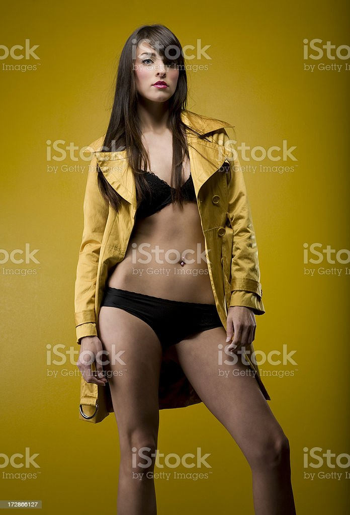 Gold Trench Coat royalty-free stock photo