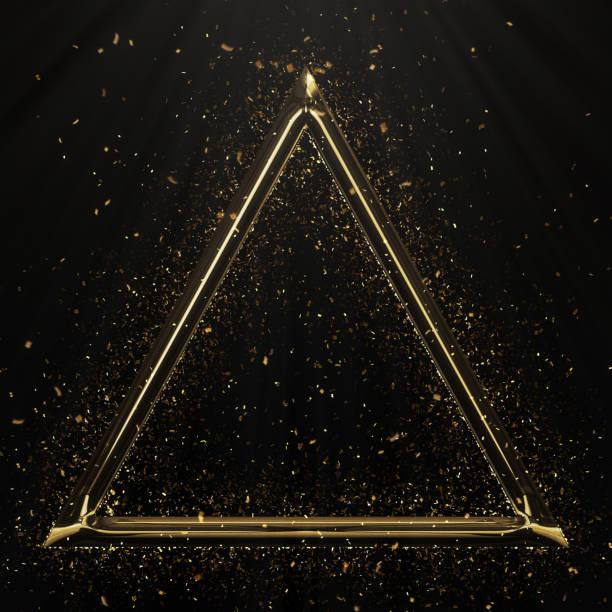 金三角形の形状 ストックフォト