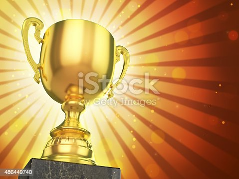 istock Gold trophy cup 486449740