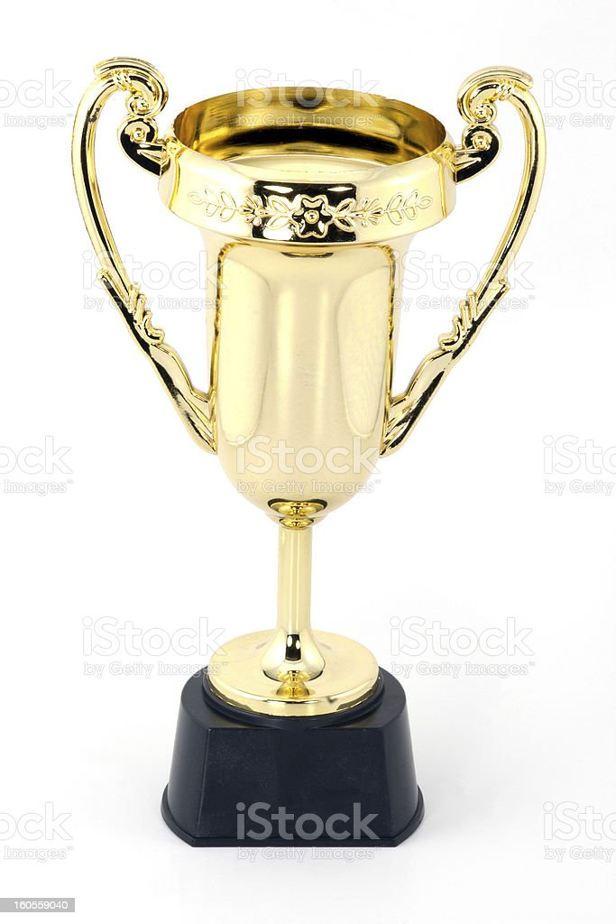 Gold trophy royalty-free stock photo