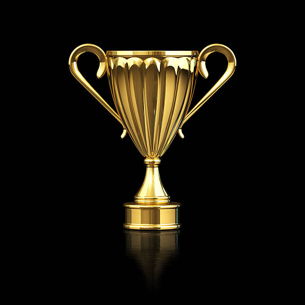 Gold Trophy Stock Photo